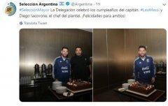阿根廷足协恭喜梅